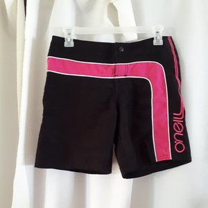 *2/$14* O'Neill Pink and Black Shorts Sz S